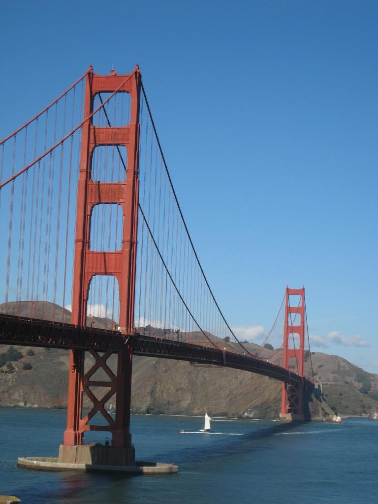 Usa Adventure Orange Bridges And Blue Skies The